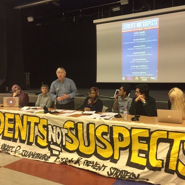 "The UCU has supported the ""Students not Suspects' tour when it visited Scotland"